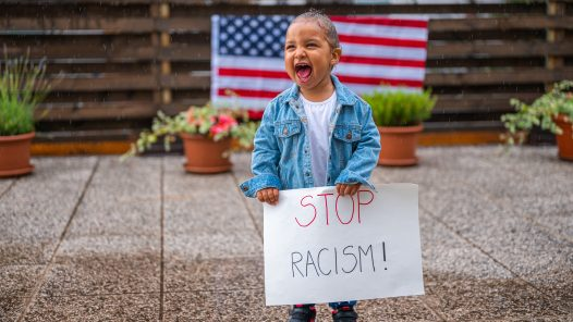Little girl stop racism